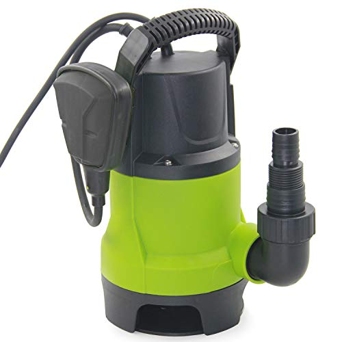 FLUENTEC 400W Portable Submersible Pump for Dirty/Clean Water, Max Flow 8000L/H Electric Sump Pump, Automatic and Manual Operation by Float Switch