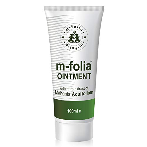 M-FOLIA Psoriasis Ointment Formulated to Help Alleviate the Symptoms of Psoriasis, Eczema and Related Dry Skin Pure Conditions Extract of Mahonia Aquifolium