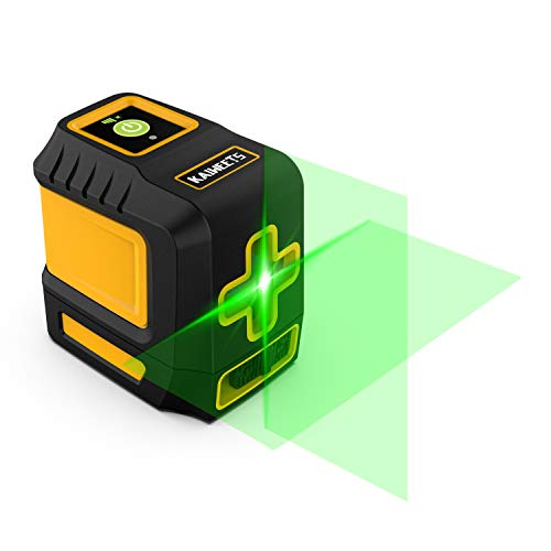 KAIWEETS T3 Green Laser Level, Cross Laser Line, Laser Level Self Levelling with Manual Mode and Pulse Function, IP54, Adjustable Lightness Line, Carrying Bag, Magnetic Base, 2 AA Batteries