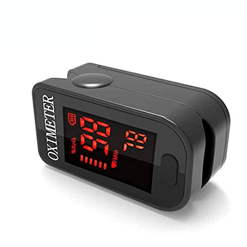 Oxygen Monitor Finger,Pulse Oximeter Oxygen Saturation Monitor Spo2 Fingertip Pulse Oximeter Adult and Child with LED Display with Lanyard