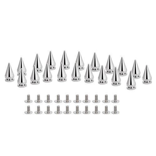 20Pcs Silver Rivets Cone Spikes Creative Tree Shape Medium Size Screw back Studs for Bag Belt Leather Craft Decoration