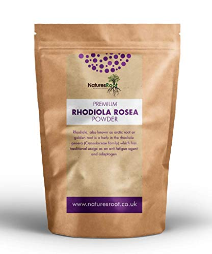 Nature's Root Rhodiola Rosea Powder 250g - Adaptogenic Superfood   Energy Booster  Golden Root   100% Vegan   High-Dose