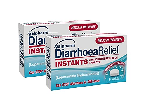 GALPHARM Diarrhoea Relief Instant Melts 2mg Loperamide Orodispersible Tablets 6's X 2