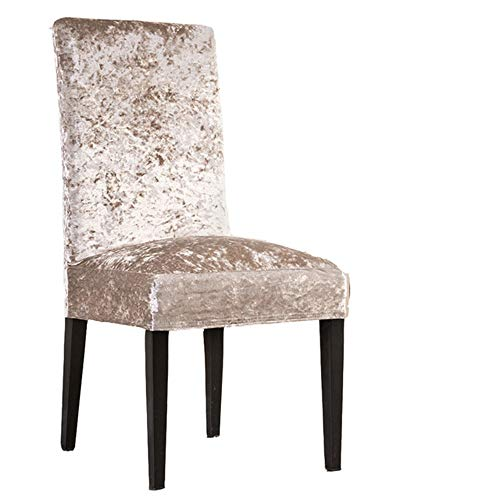 RDTRAVEL Thick Velvet Chair Cover Dining Chair Slipcover Elastic Stretch Chair Cover Case