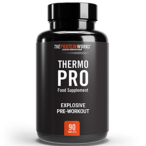 THE PROTEIN WORKS Thermopro Tablets   Preworkout Fat Burn Supplement with Caffeine   Reduces Tiredness and Fatigue   90 Capsules