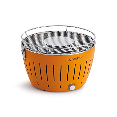 Lotus Grill bbq in orange with free fire lighter gel & charcoal
