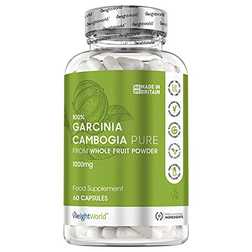 Garcinia Cambogia Pure - 1000mg - Herbal Diet Pills for Body & Mind, Natural Supplement for Men & Women,Pure Clean Quality Garcinia Powder - 60 Capsules