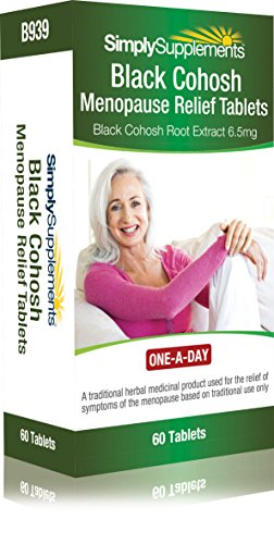 Black Cohosh Menopause Relief Tablets | Potent One-a-Day Formula | 60 Tablets = 2 Month Supply | Traditional Herbal Remedy | Vegetarian Safe Supplement