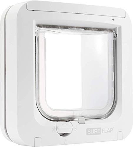 SureFlap Cat Flap with Microchip Identification, White (4 x AA batteries required)