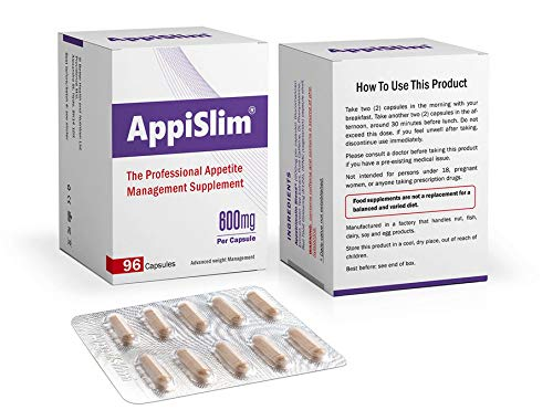 AppiSlim Appetite Suppressant Pills for Weight Loss (Women and Men) - Natural Reducer of Cravings