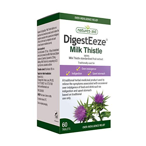 Natures Aid DigestEeze Milk Thistle, 60 Tablets