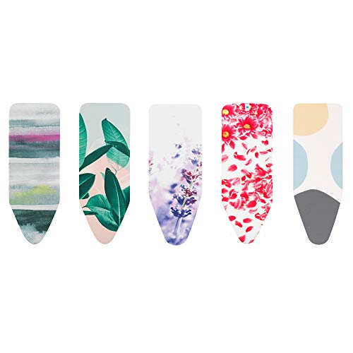Brabantia Size C (124 x 45cm) Replacement Ironing Board Cover with Thick 8mm Padding - Assorted Colourful Mixed Styles (Selection is Random)
