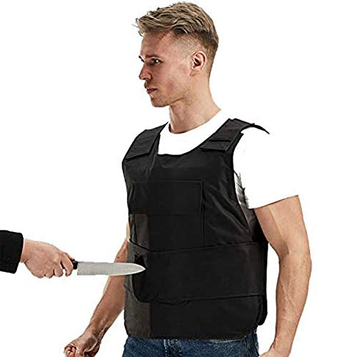 EDOSTORY Stab-Resistant Vests, Military Military Tactical Vest, Stab-Hard Self-Defense Suits, Bullet-Proof Security Equipment, Hunting Rifle War Games,16 layers of soft