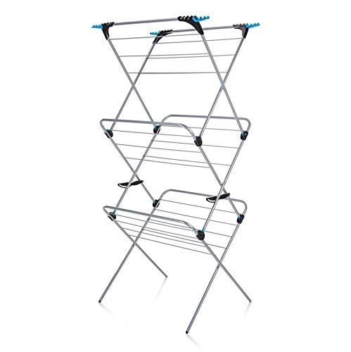 Minky 3 Tier Plus Indoor Airer with 21 m Drying Space, Silver