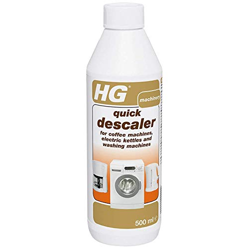 HG Quick Descaler, for Coffee Machines, Electric Kettles & Washing Machines, Removes Scale & Limescale Build Up Quickly & Effectively (500ml) - 174050106