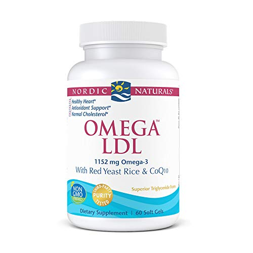 Nordic Naturals Omega with Red Yeast Rice and COQ10 Softgels, 1152 mg, 60 Capsules