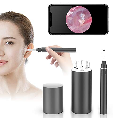 WiFi Otoscope Ear Wax Removal Kit, OVIFM 3.9mm Upgraded Ear Camera, 1080P HD Wireless Ear Cleaner with 6 LED Lights, Ear Wax Removal Tool with Storage Box,Phone Holder for iPhone, Android and iPad