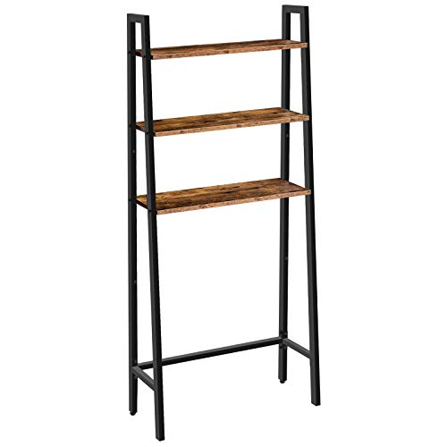 HOOBRO Over Toilet Storage Shelf, 3-Tier Toilet Storage Rack, Industrial Multi-Functional Over-The-Toilet Cabinet, Easy to Assemble, Stable, Rustic Brown EBF42TS01