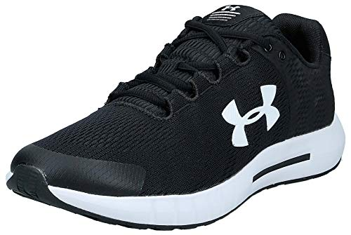 Under Armour Men's Micro Pursuit Bp Competition Running Shoes, Black Black White White 001 001, 10 UK