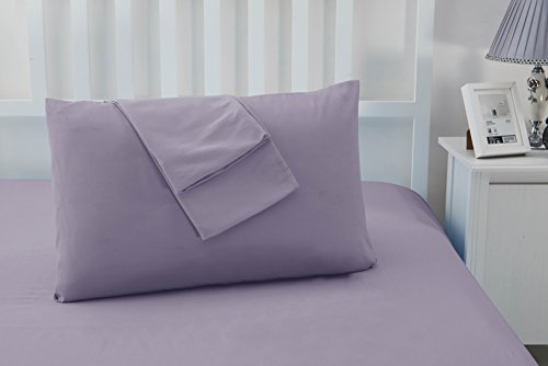 Sonia Moer Luxury Wrinkle-Free, Super-Soft, Hypoallergenic, Breathable, Microfibre Pillowcases - Feels Silky Smooth - Non Iron - Stay Cool and Comfortable (Set of 2 Pillowcases)