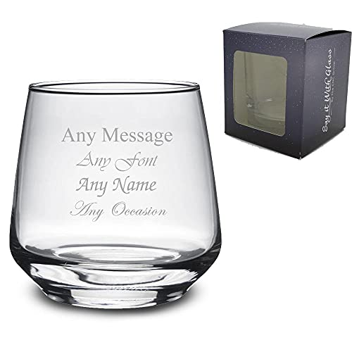 Personalised Engraved 345ml Tallo Whiskey Glass, Gift Boxed, Perfect for Any Occasion