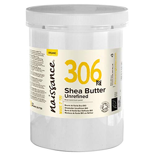 Naissance Organic Shea Butter (no. 306) 1kg - Pure, Natural, Certified Organic, Unrefined, Hand Kneaded, Vegan and Fragrance Free