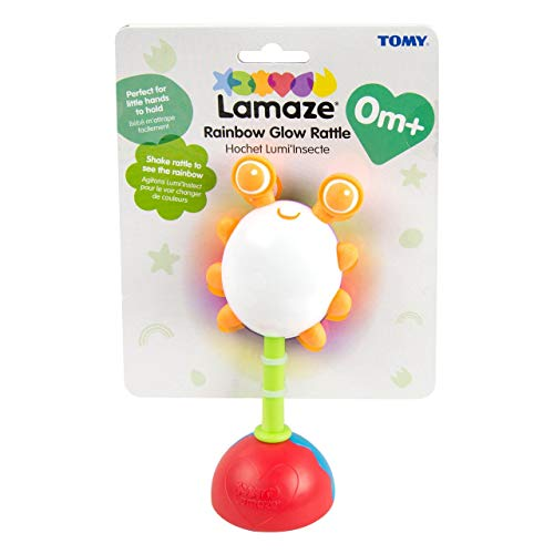 LAMAZE Rainbow Glow Baby Rattle Toy | Cute Light Up Baby Toy that Features Chewy Eyes as Baby Teether | Suitable for Baby & Toddler - Boys & Girls From 0 - 6 Months