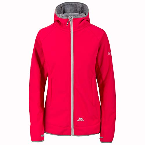 Trespass Imani, Raspberry, S, Waterproof Softshell Jacket with Thumb Holes for Women, Small, Pink