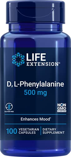 Life Extension D, L-Phenylalanine, 500mg, 100 vcaps