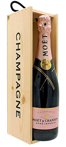 Moët & Chandon Imperial Rosé Champagne 75cl with Wooden Champagne Gift Box