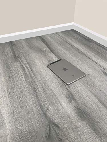 Grandismo® Luxury Grey Wood Laminate Flooring - Sold Per 1m2 - V-Grooved - High Quality Embossed - Click System
