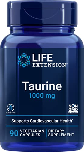 Life Extension Europe Taurine Capsules, 1000 mg, 90-Count