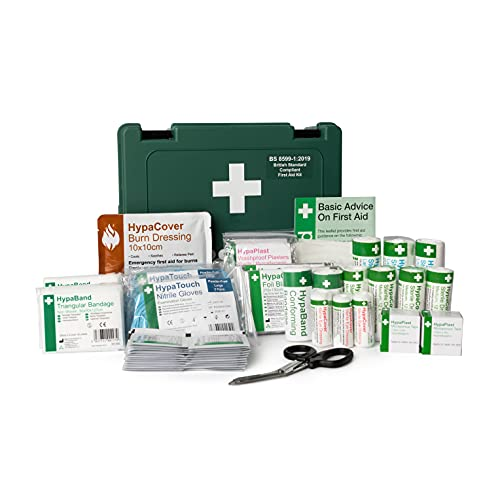 Safety First Aid Group Economy First Aid Kit BS 8599 Compliant, Medium Fully Stocked
