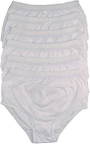 COTTONIQUE Ladies 6 Pairs of Full Cotton Briefs in Choice of Colours 36-54