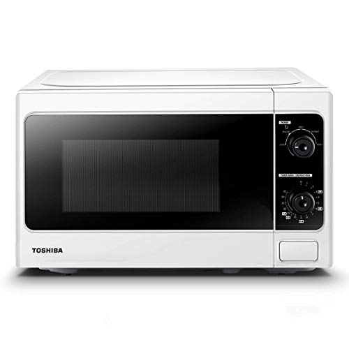 Toshiba 800 w 20 L Microwave Oven with Function Defrost and 5 Power Levels, Stylish Design – White - MM-MM20P(WH), Amazon Exclusive
