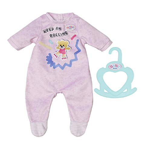 BABY born 830574 Little Romper-Clothing for 36cm Dolls-for Toddlers Ages 12 Months & Up-Easy for Small Hands-Includes Romper & Hanger-Pink