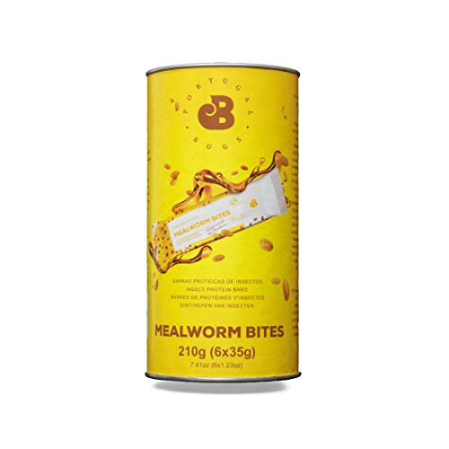 Mealworm Bites Protein Bar with Insect Protein Powder, (35g x 6) - Peanut and Honey. Sustainable Protein bar