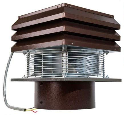 Chimney Fan For Round Flue 30 cm 300 mm Electric Chimney Fan Chimney Ventilation Fans Rooftop Inducer Fans Chimney Exhaust Fan For BBQ Hut Fireplace Thermo Stove Gemi Elettronica