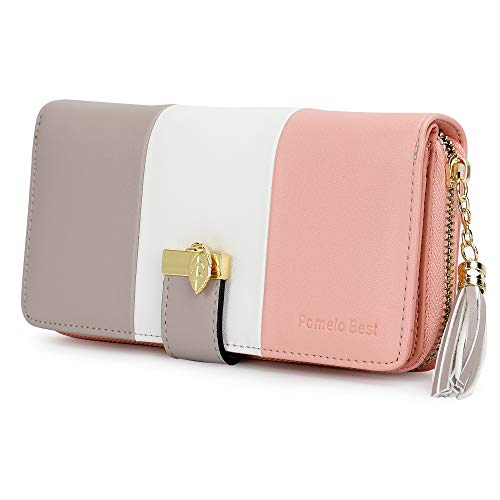 Ladies Purse, Women's Wallet with Multiple Card Slots and Roomy Compartment (Stripe)