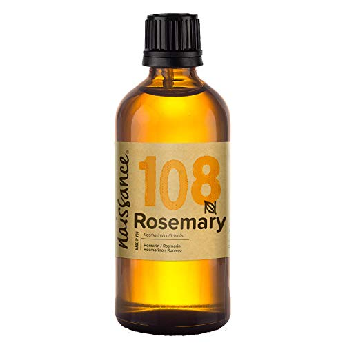 Naissance Rosemary Essential Oil (no. 108) 100ml - Pure, Natural, Cruelty Free, Vegan, Steam Distilled and Undiluted - Use in Aromatherapy & Diffusers