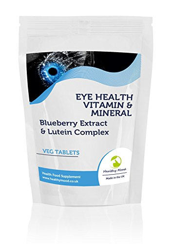 Eyehealth Vitamin & Mineral with Blueberry Extract & Lutein Complex7 Veg Tablets Pills Health Food Vision Supplements HEALTHY MOOD