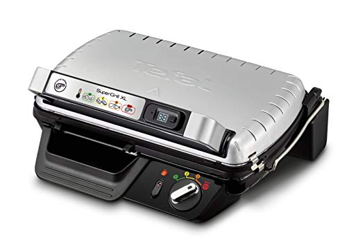 Tefal SuperGrill XL GC461B Electric Grill Table Black, Metallic 2400 W – Barbecue (2400 W, Grill, Electric, 110 cm², 2 Years, 350 x 205 mm)