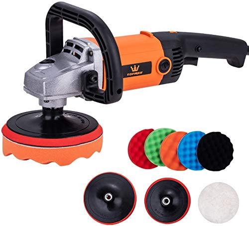 TOPWAY Electric Variable Speed Angle Polisher Sander 150 & 180mm with Accessories