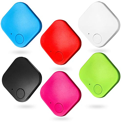 Key Finder Item Finder Smart Tracker Item Locator Key Tracker Compatible with Wireless Bluetooth Tracking Device, Key Finder Locator Phone Finder Anything Finder Anti-lost Tag (6 Pieces)