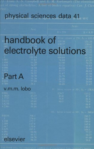 Handbook of Electrolyte Solutions Parts A and B: Volume 41 (Physical Sciences Data)