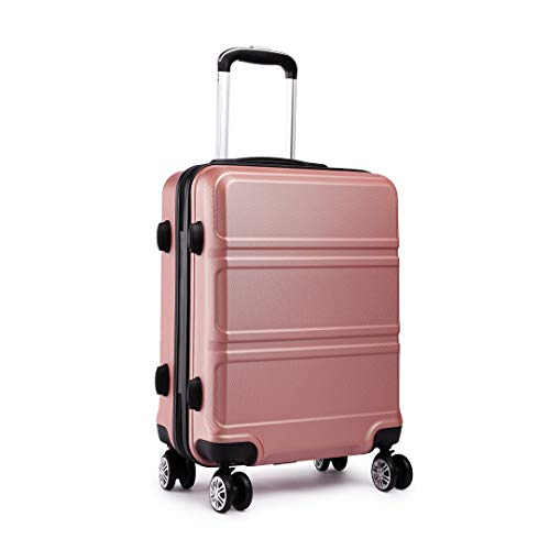 Kono Fashion Hand Luggage Lightweight ABS Hard Shell Trolley Travel Suitcase with 4 Wheels Cabin Carry-on Suitcases (20