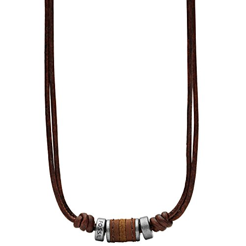 Fossil Men's Brown Rondell Necklace JF00899797