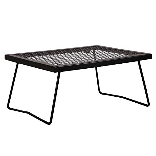 REDCAMP Folding Campfire Grill Grate, Portable Heavy Duty Steel Camp Grill Over Fire for Camping Outdoor Kitchen Cooking BBQ