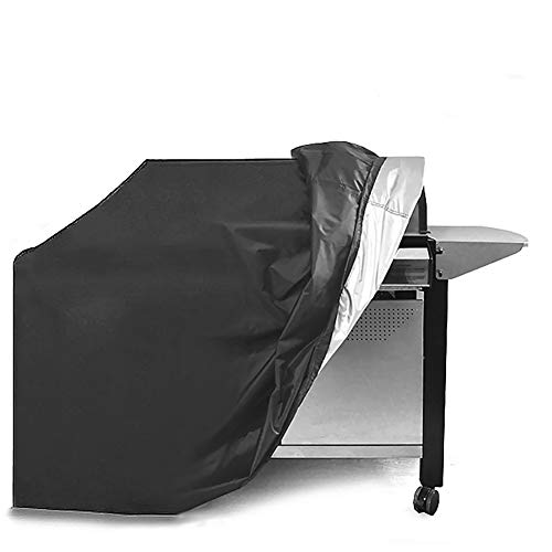 EXTSUD Barbecue Covers Waterproof, 145 x 61 x 117cm BBQ Grill Cover, Anti-Aging Environmental Protection, Oxford fabric Waterproof Gas BBQ Grill Cover with Storage Bag (Black)