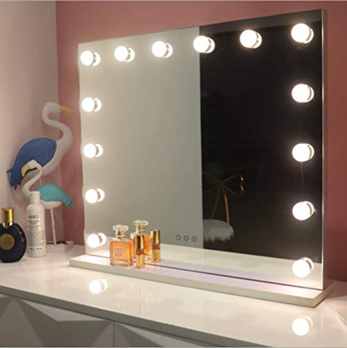 Hollywood Makeup Mirror Large Vanity Mirror with LED Lights Bulbs (50cmX40cm(14Leds))